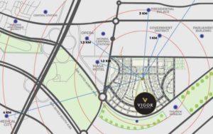موقع مشروع فيجور العاصمة الإدارية