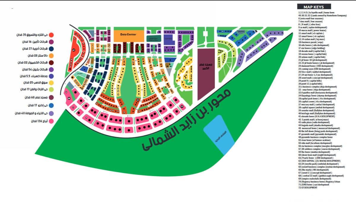 أسعار المحلات في منطقة الداون تاون العاصمة الإدارية الجديدة